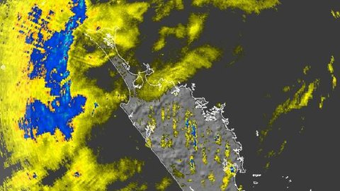 A band of rain approaching Northland around midday.